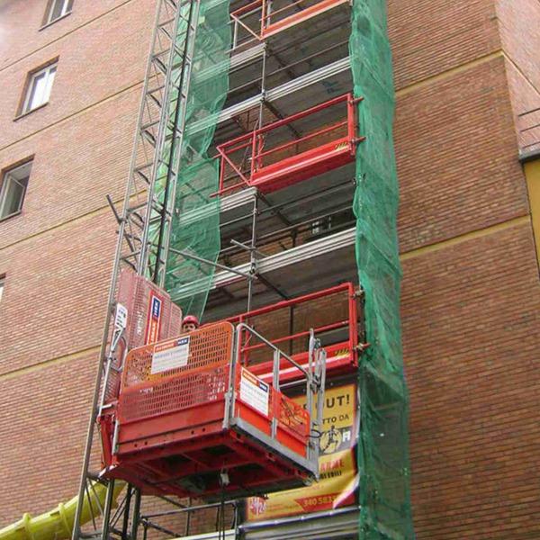 Installazione montacarichi come ascensore.